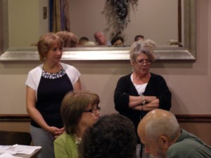 Anne Goessel and Gretchen Logue from Missouri Coalition against Common Core speaking at our recent meeting.