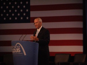 Oliver North gave a rousing speech at CPAC.