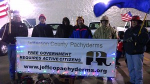 Pachyderms @ House Springs Christmas Parade - 2013